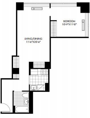 image 1 furnished 1 bedroom Apartment for rent in Battery Park City, Manhattan