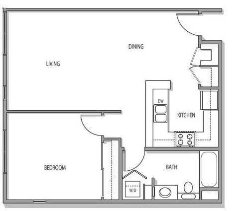 1 bedroom Downtown San Jose