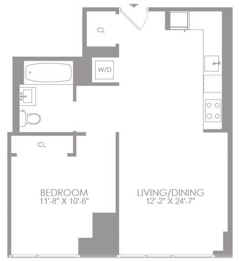 image 1 furnished 1 bedroom Apartment for rent in Midtown-West, Manhattan