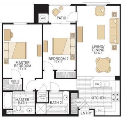 image 1 furnished 2 bedroom Apartment for rent in Irvine, Orange County