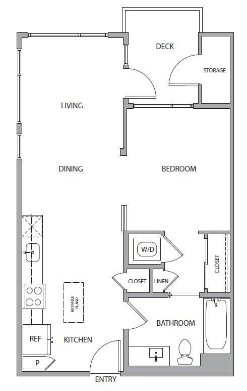 1 bedroom Mountain View
