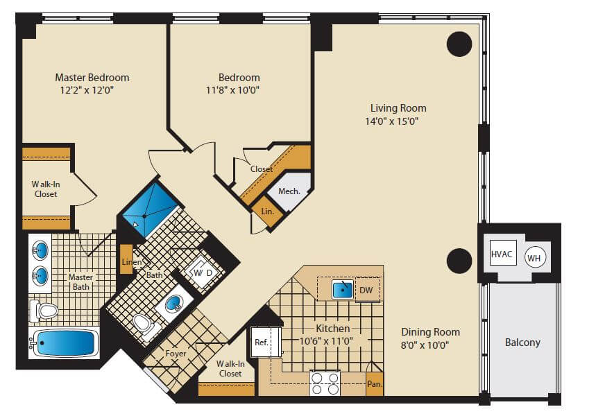 7740 2 Bedroom in Santa Monica, Arlington