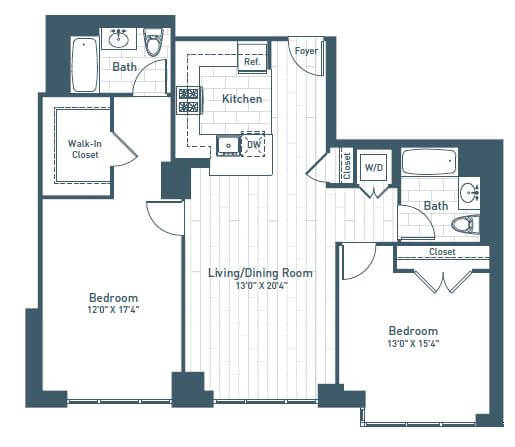 image 1 furnished 2 bedroom Apartment for rent in Jersey City, Hudson County