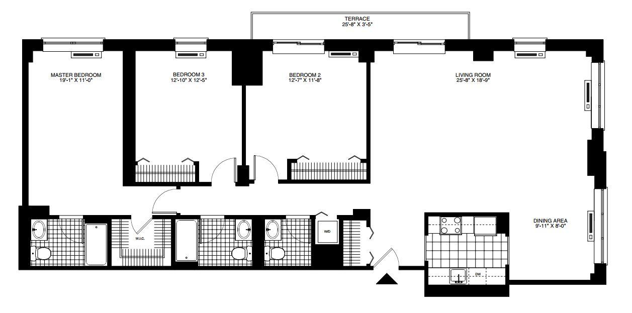 3 bedroom Hoboken