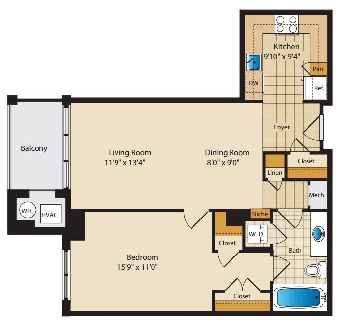 4770 1 Bedroom in Park La Brea, Arlington