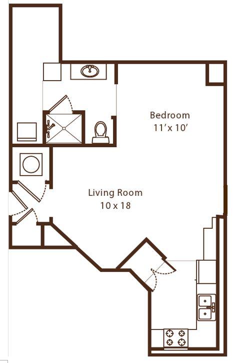 1 bedroom Bartlett