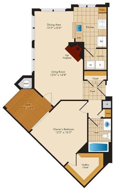 1 bedroom Columbia