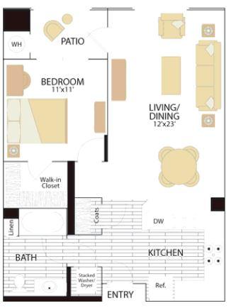 image 1 furnished 1 bedroom Apartment for rent in Irvine, Orange County