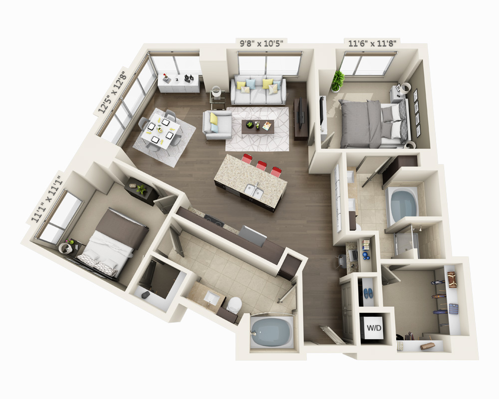image 1 furnished 2 bedroom Apartment for rent in Waterfront, Boston Area