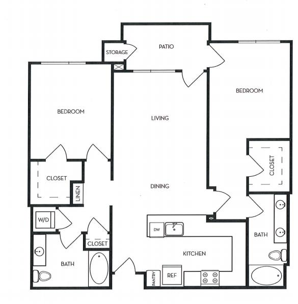image 1 furnished 2 bedroom Apartment for rent in Menlo Park, San Mateo (Peninsula)
