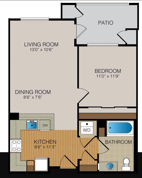 1 bedroom Sunnyvale