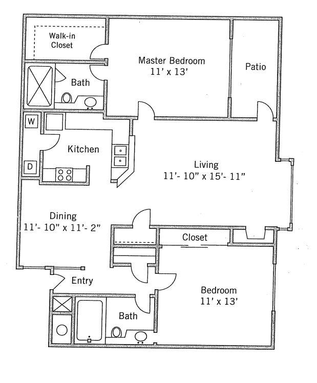 2 bedroom Mountain View