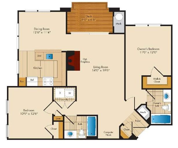 image 1 furnished 2 bedroom Apartment for rent in Columbia, Howard County