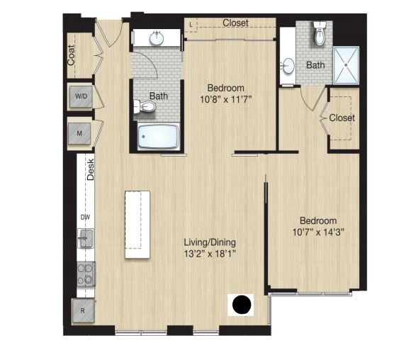 image 1 furnished 2 bedroom Apartment for rent in Bloomingdale, DC Metro